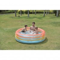 "73.5"" Vibrantly Colored Inflatable Swimming Pool with Translucent Walls"