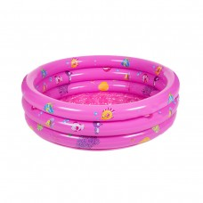 Inflatable Kiddie 3 Ring Circles Swimming Pool