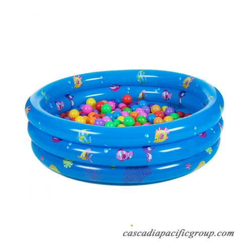 Inflatable Kiddie Pool 3 Ring Round Swimming Pool Ball Pit ...