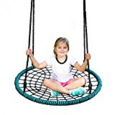 Sorbus Spinner Swing – Kids Indoor/Outdoor Round Web Swing – Great for Tree, Swing Set, Backyard, Playground, Playroom – Accessories Included   568497060