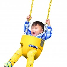 Toddler Swing Set Swing Seat Outdoor Kids Toys High Full Bucket Swing With Coated Chain